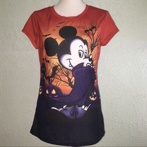 DISNEY Jr. 11/13 Mickey Vampire Halloween T-Shirt